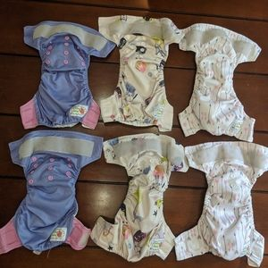 Happy Flute Newborn 6-18# Lot Cloth Diaper NB AIO